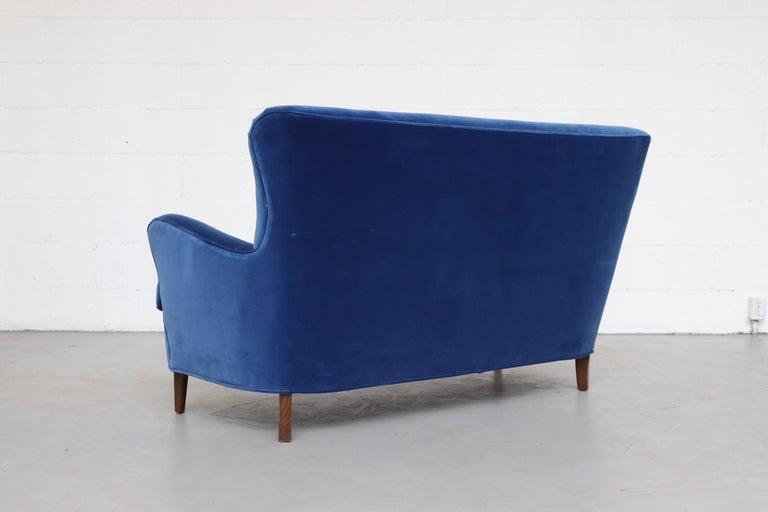 Dutch Theo Ruth Cobalt Blue Sofa by Artifort For Sale