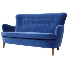 Theo Ruth Cobalt Blue Sofa by Artifort