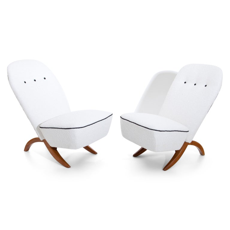 Mid-Century Modern Theo Ruth Congo Lounge Chairs, Netherlands, Mid-20th Century For Sale