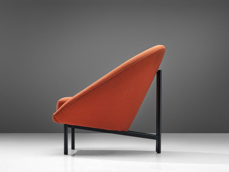 Dutch Theo Ruth for Artifort Orange Lounge Chair For Sale