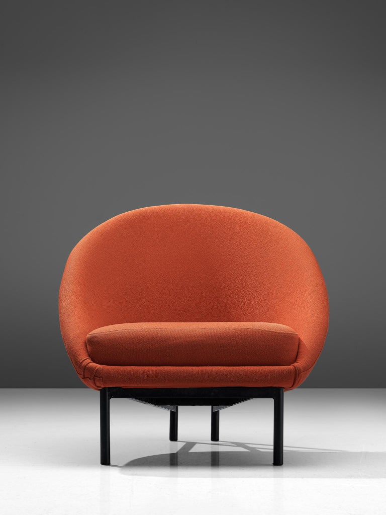 Late 20th Century Theo Ruth for Artifort Orange Lounge Chair For Sale
