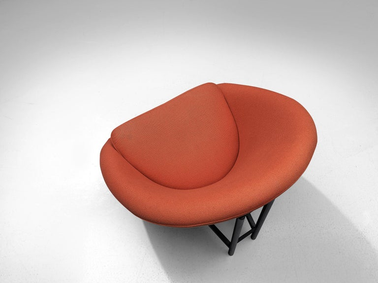 Metal Theo Ruth for Artifort Orange Lounge Chair For Sale