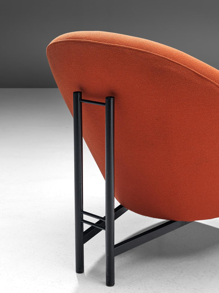Theo Ruth for Artifort Orange Lounge Chair For Sale 1