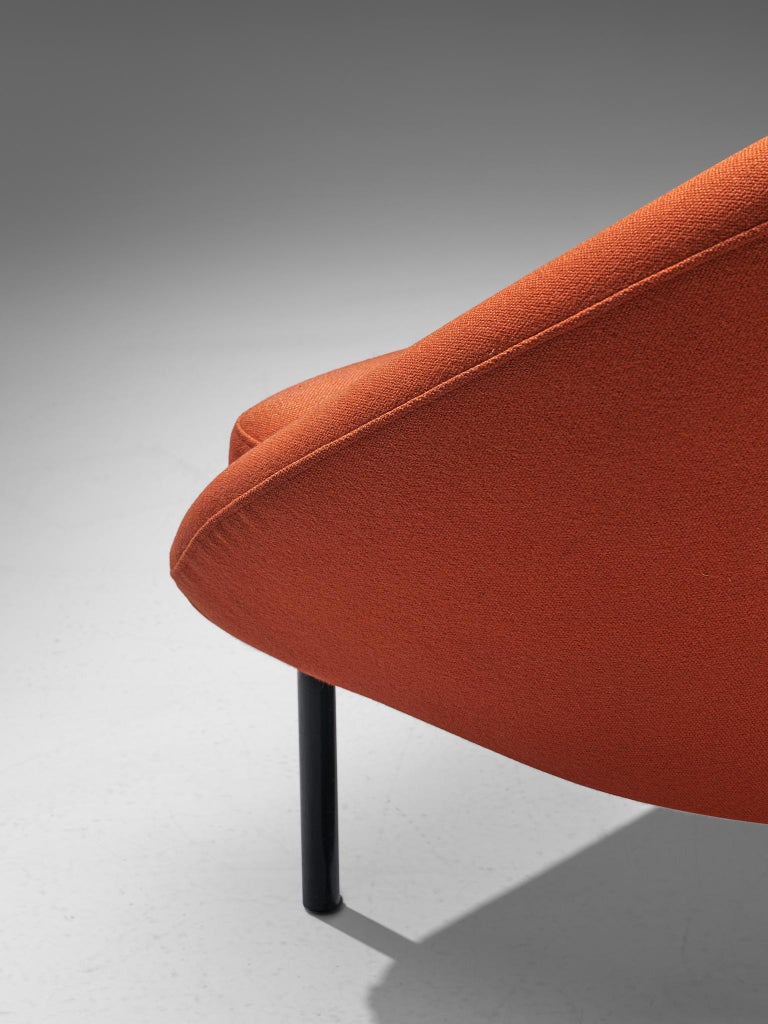 Theo Ruth for Artifort Orange Lounge Chair For Sale 2