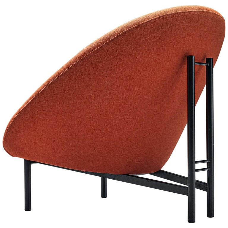 Theo Ruth for Artifort Orange Lounge Chair For Sale