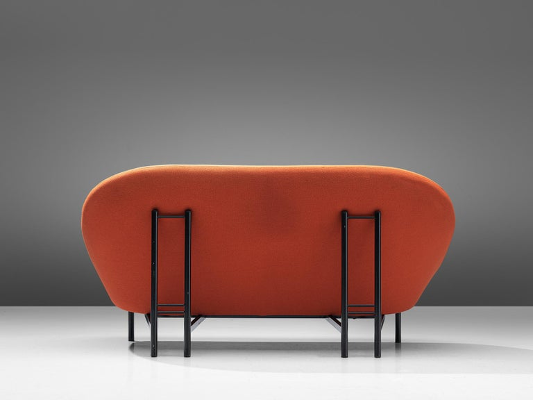 Theo Ruth for Artifort Orange Sofa In Good Condition For Sale In Waalwijk, NL
