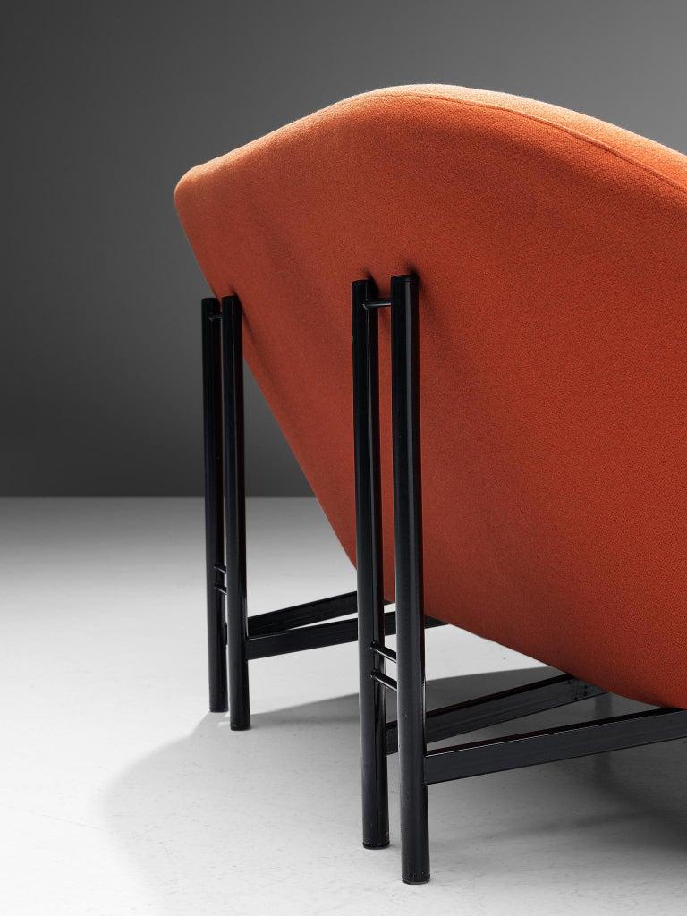 Metal Theo Ruth for Artifort Orange Sofa For Sale