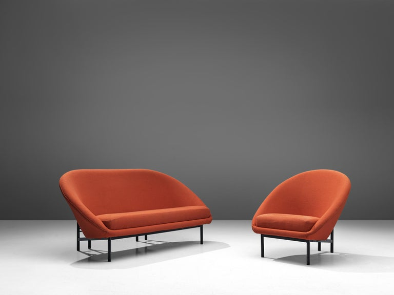 Theo Ruth for Artifort Orange Sofa For Sale 2