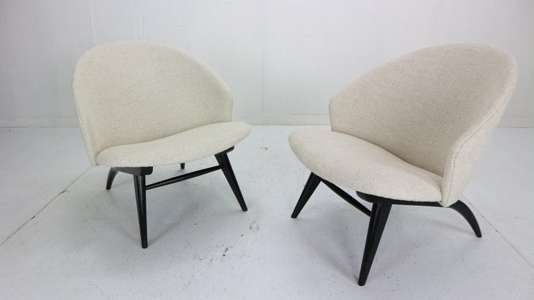 Dutch Theo Ruth Set of Two Lounge Chairs for Artifort, 1950s For Sale