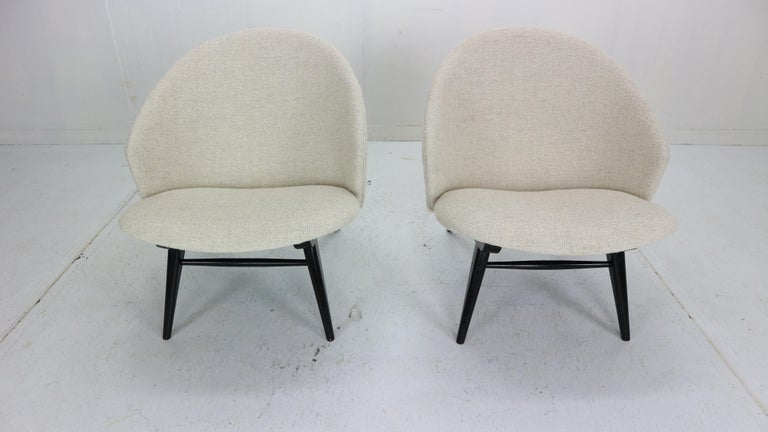 Painted Theo Ruth Set of Two Lounge Chairs for Artifort, 1950s For Sale