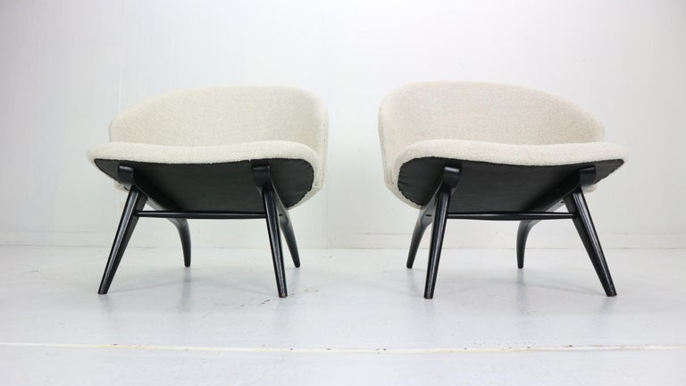 Theo Ruth Set of Two Lounge Chairs for Artifort, 1950s In Good Condition For Sale In The Hague, NL