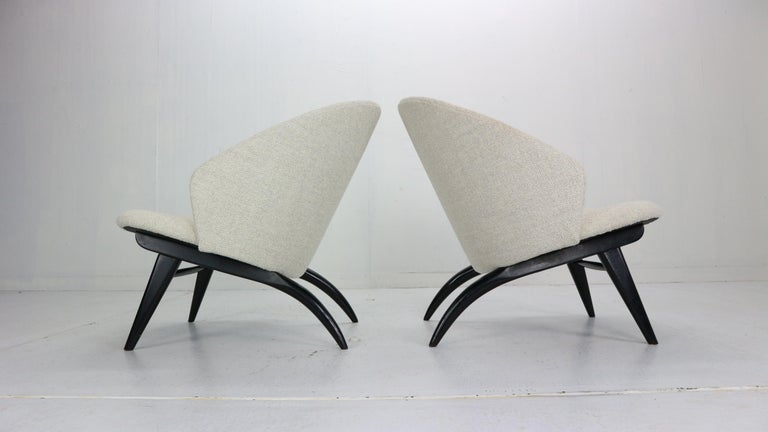 Mid-20th Century Theo Ruth Set of Two Lounge Chairs for Artifort, 1950s For Sale
