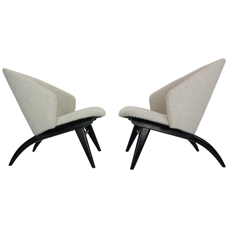 Theo Ruth Set of Two Lounge Chairs for Artifort, 1950s For Sale
