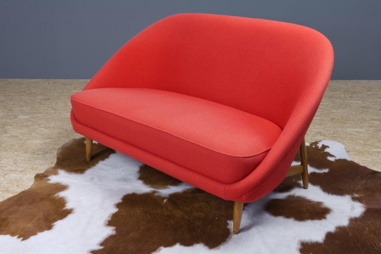 Theo Ruth Sofa or Love Seat in Red for Artifort, Model 115, 1970s In Good Condition For Sale In Beek en Donk, NL