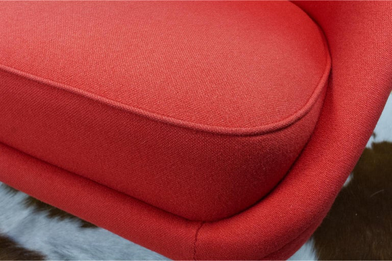 Mid-20th Century Theo Ruth Sofa or Love Seat in Red for Artifort, Model 115, 1970s For Sale