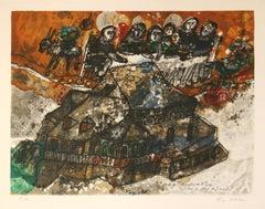 Assemblee des Rabbins et Notables.. original lithograph by Theo Tobiasse