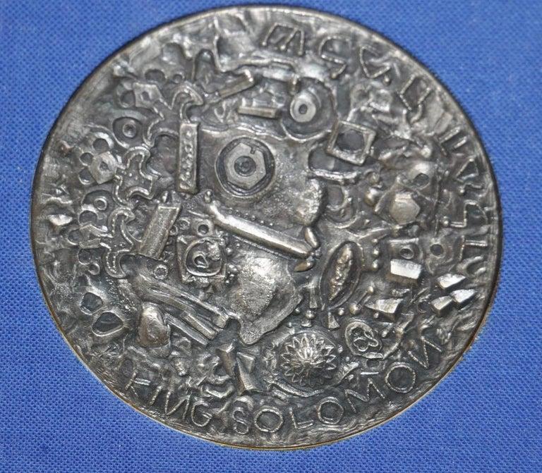 Theo Tobiasse (1927-2012) King Solomon Medallion c.1975  Fine medallion titled