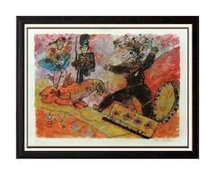Theo Tobiasse Color Lithograph HAND SIGNED Art Hommage a Hans Christian Andersen