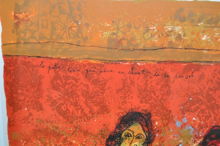 Theo Tobiasse (French, 1927-2012) Le Petit Train qui mene au chant de la pensee