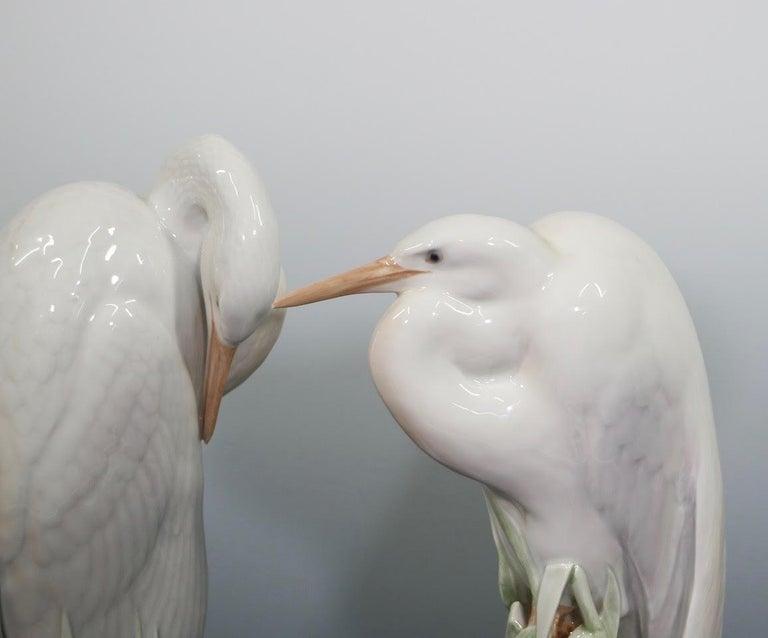 Theodor Madsen for Royal Copenhagen Swedish Art Deco Porcelain Cranes or Herons For Sale 3