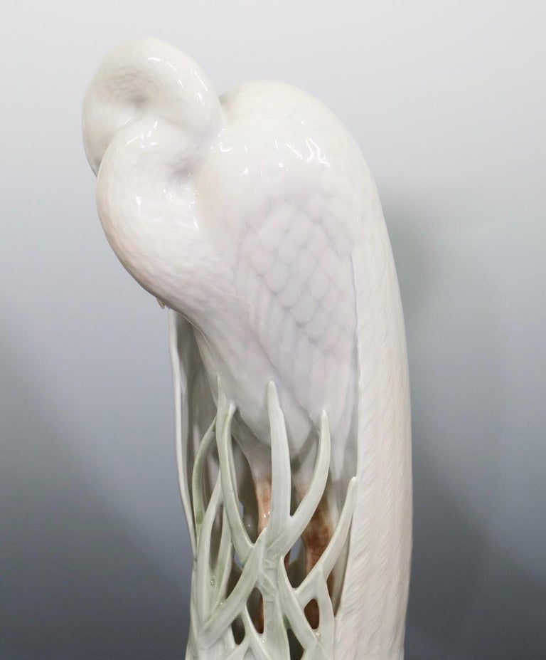 Theodor Madsen for Royal Copenhagen Swedish Art Deco Porcelain Cranes or Herons For Sale 5