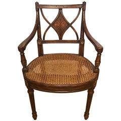 Theodore Alexander Armchair Armchair Cane Seat