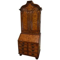 Theodore Alexander Burl Walnut Secretary Desk George III Style