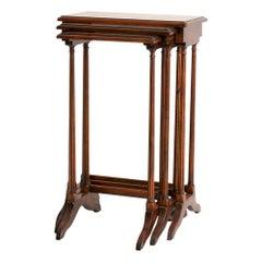 Theodore Alexander Burr Walnut Nest of Tables