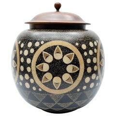 Theodore Alexander Flower and Dots Design Ceramic Vase