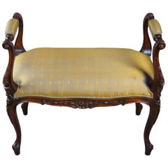 Theodore Alexander Living Room Louis XV Carved Stool Window Seat Bench 4400-150