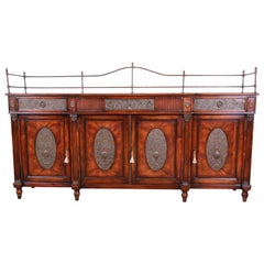 Theodore Alexander Regency Style Flame Mahogany Sideboard or Bar Cabinet
