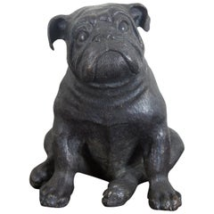 Theodore Alexander Seated British Bulldog Bronze Sculpture Statue Pug Dog