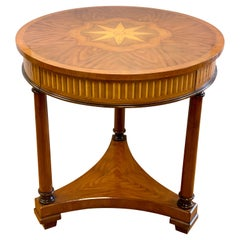 Theodore Alexander Signed Round Marquetry Table