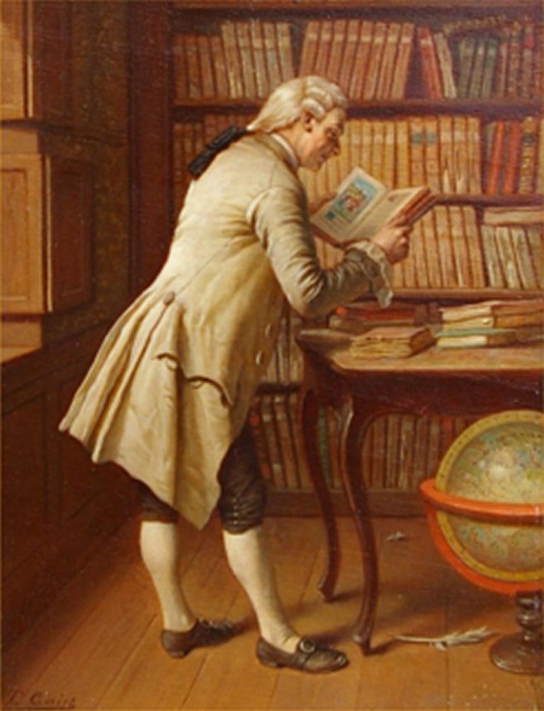 Theodore Ceriez Portrait Painting - The Librarian