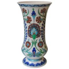Théodore Deck Faience Iznik Baluster Vase