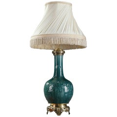Theodore Deck Porcelain Vase Mounted as Lamp