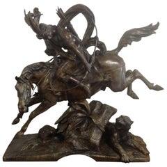 Theodore Gechter Amazing Signed Bronze Group, circa 19th Century