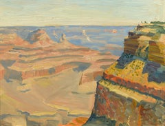 """Grand Canyon,"" Theodore Lukits, oil, impressionism, National Park, ca 1920-30"
