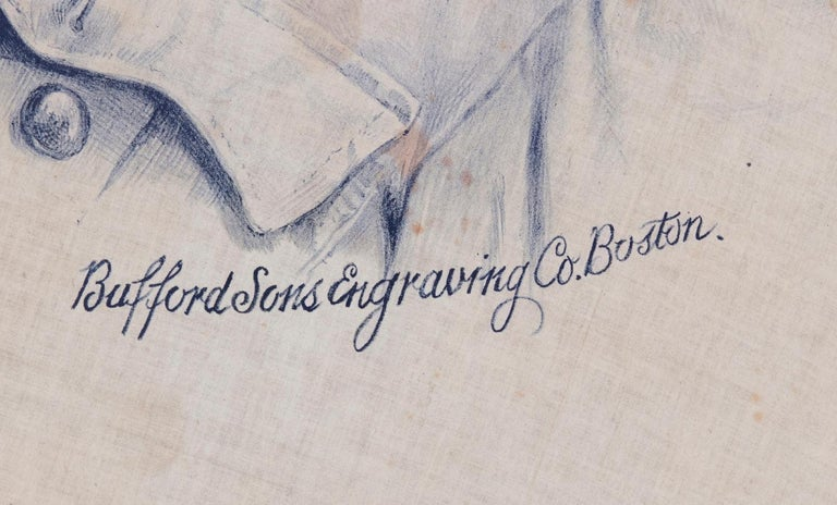 Theodore Roosevelt Banner with an Exquisite Portrait Image in Rough Rider's Garb In Good Condition For Sale In York County, PA