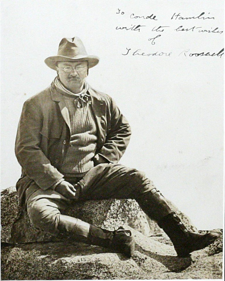 American Theodore Roosevelt in Yosemite Large Historic Signed Photograph For Sale