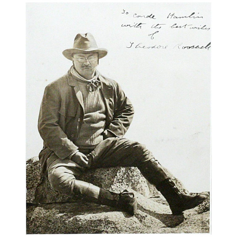 Theodore Roosevelt in Yosemite Large Historic Signed Photograph For Sale