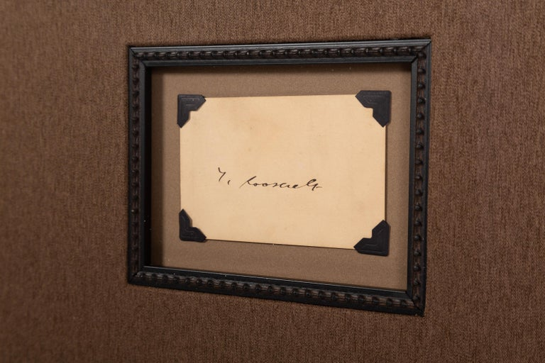 Theodore Roosevelt Signed Collage In Good Condition For Sale In Colorado Springs, CO