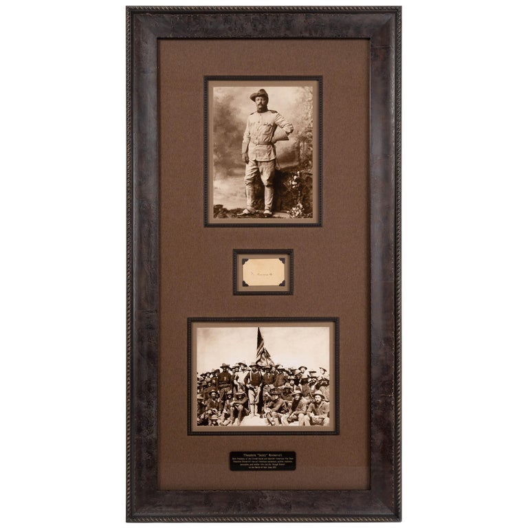 Theodore Roosevelt Signed Collage For Sale