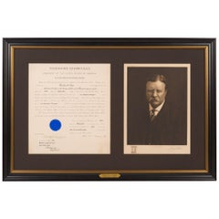 Theodore Roosevelt Signed Presidential Appointment Collage, 1905