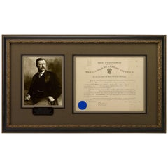 Theodore Roosevelt Signed Presidential Military Appointment Document, circa 1903