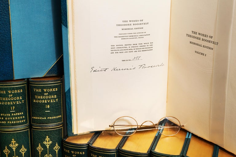 Theodore Roosevelt, The Works, Memorial Edition In Good Condition For Sale In New York, NY