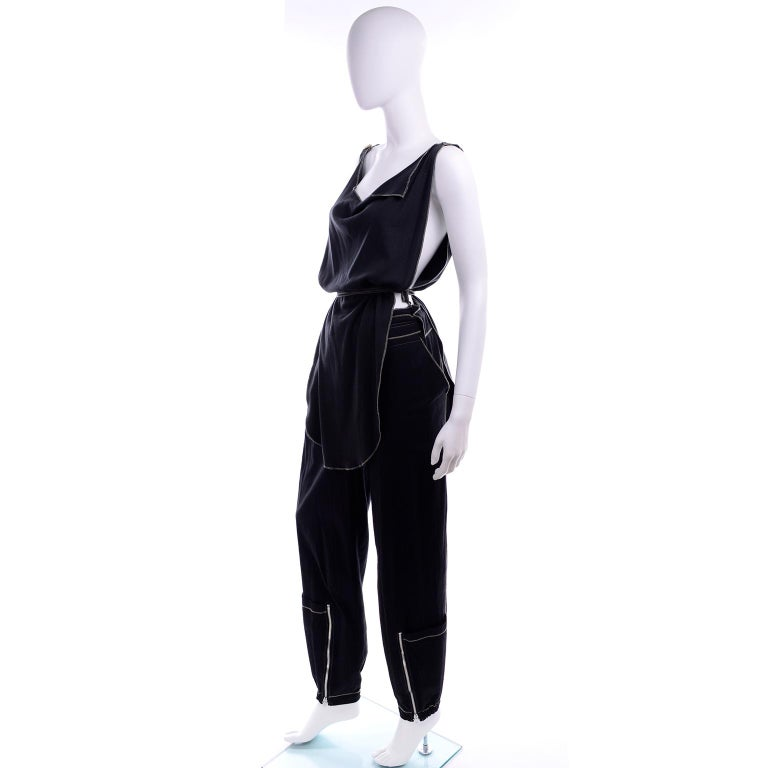 This rare Theodore vintage boutique brand early 1990's 2 piece outfit is from an estate we acquired a couple of years ago. The woman who owned this bought only the finest garments and her entire wardrobe was exceptional. She loved avant garde brands