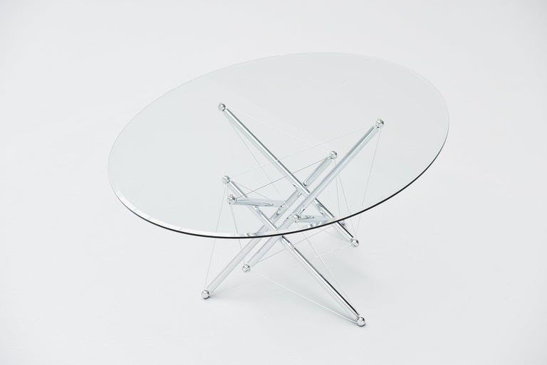 Mid-Century Modern Theodore Waddell 714 Dining Table Cassina, Italy, 1973 For Sale