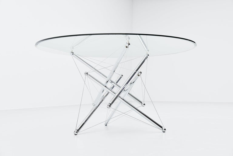 Italian Theodore Waddell 714 Dining Table Cassina, Italy, 1973 For Sale