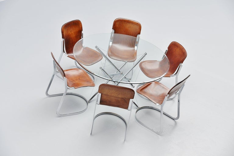 Theodore Waddell 714 Dining Table Cassina, Italy, 1973 For Sale 1